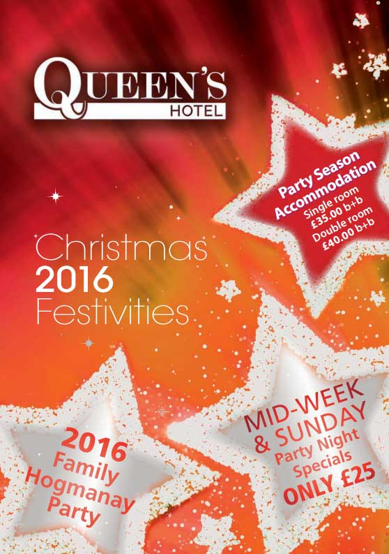 Queens hotel Christmas brochure