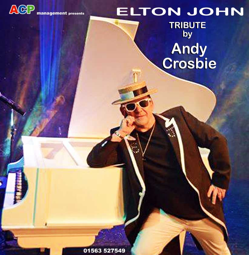 Andy Crosbie brings the amazing music of Elton John to life at his stunning tribute evening.