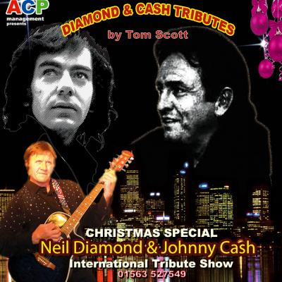 The highly popular NEIL DIAMOND & JOHNNY CASH show by Tom Scott returns for a CHRISTMAS SPECIAL!