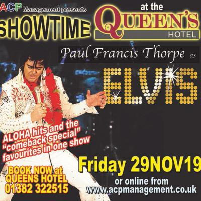 Get your hips ready to swivel, with amazing Paul Francis Thorpe as Elvis.